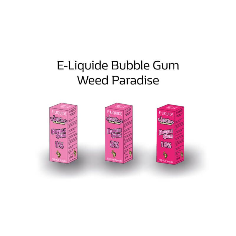 Bubble Gum E-Liquide | 5% Cbd Full spectre (500mg) 0% Thc