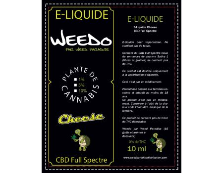 Cheese E-Liquide | 5% Cbd Full spectre (500mg) 0% Thc